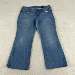 Faded Glory Jeans Women 18 Blue Bootcut Distressed